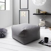 Sitzsack Tina B: ca. 70 cm Grau - Dunkelgrau/Grau, Basics, Textil (70/40/70cm) - Ombra