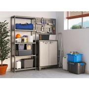 Kunststoffregal Plus 80/5 80/187/40 - Anthrazit, KONVENTIONELL, Kunststoff (80/187/40cm) - Keter