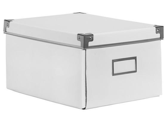 Cd-/dvd-box Lorenz - biela, kartón/kov (28/20,5/15cm) - Mömax modern living