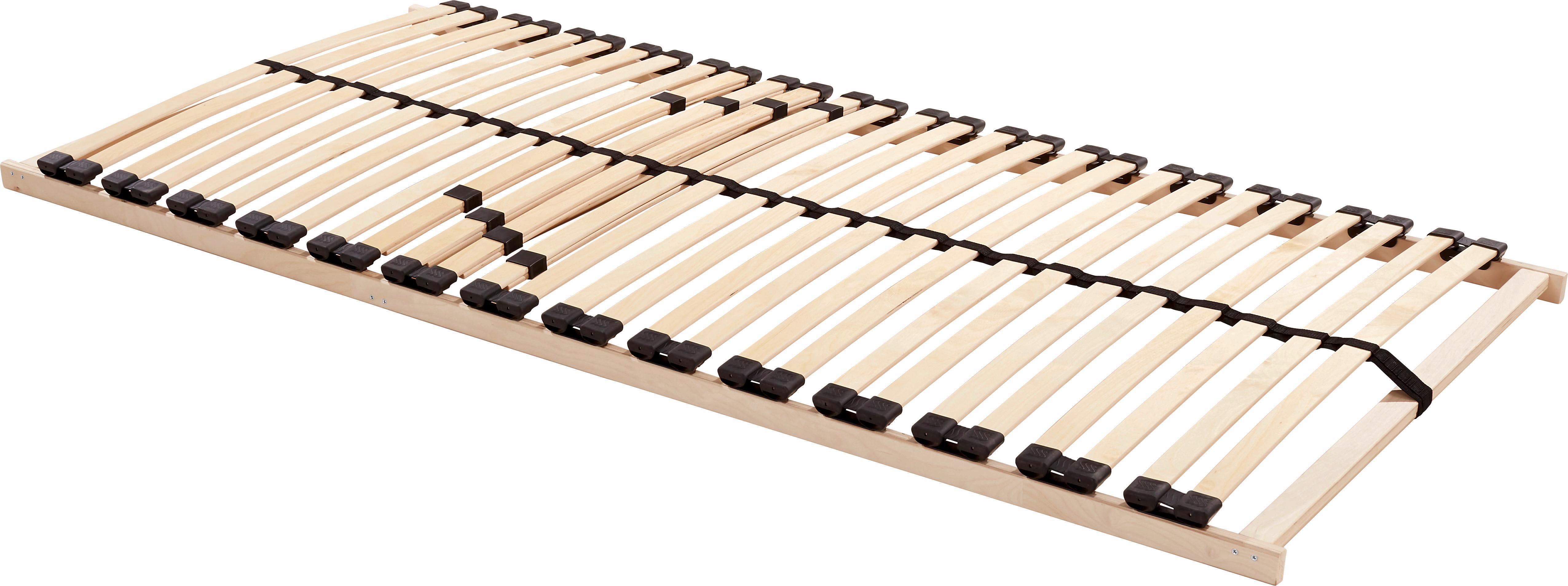 Lattenrost aus Holz mit verstellbarer Härte