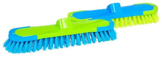 Besen 2k ohne Stiel - Blau/Grün, KONVENTIONELL, Kunststoff (6/24cm) - Ombra