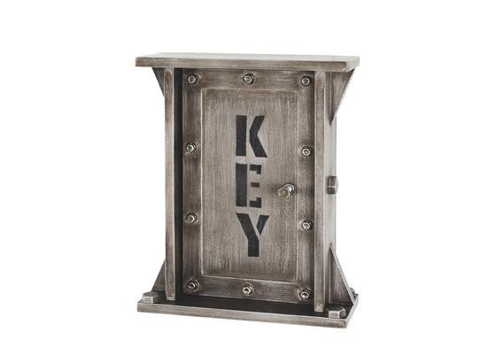 Skříňka Na Klíče Carrier 15892 - antracitová, Moderní, kompozitní dřevo (26/32/11cm)