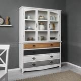 Kredenc Florina - bílá/šedá, Moderní, dřevo (125/175/32cm) - Modern Living