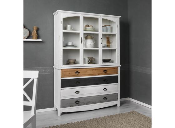 Kredencová Skriňa Florina - hnedá/sivá, Moderný, kov/drevo (125/175/32cm) - Modern Living
