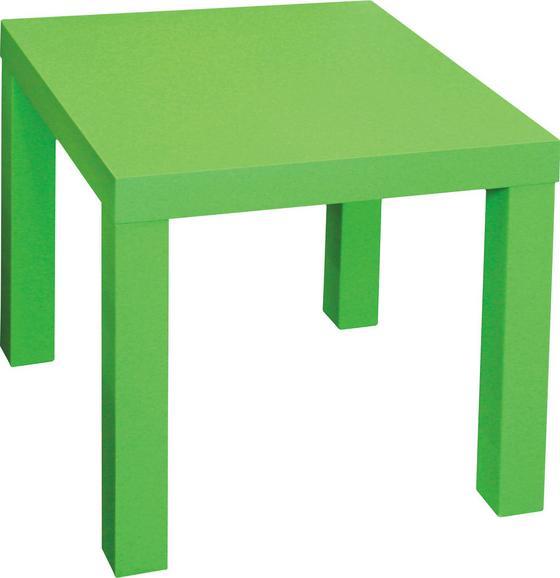 Odkládací Stolek Normen *cenovy Trhak* - zelená, Moderní, dřevěný materiál (39/40/39cm)