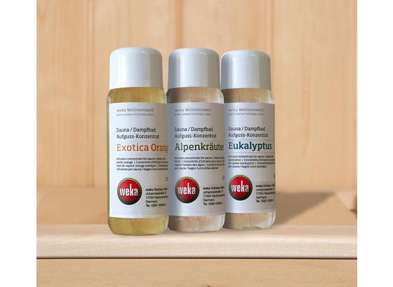 Saunazubehör 3er Sparset Sauna, Dampfdüfte - Transparent/Weiß, MODERN, Kunststoff