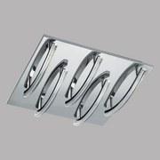 LED-Deckenleuchte Pertini - Chromfarben/Transparent, MODERN, Kunststoff/Metall (30/30/9,5cm)