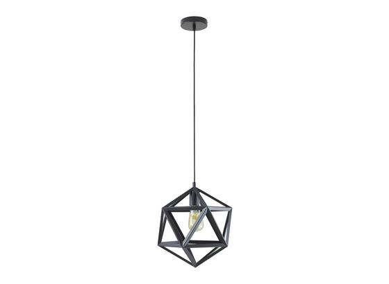 Závěsné Svítidlo Asti 35/125cm, 60 Watt - černá, Moderní, kov/umělá hmota (35/35/125cm) - Mömax modern living