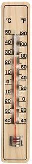 Thermometer Basic - Pinienfarben, KONVENTIONELL, Holz (21cm) - Fackelmann