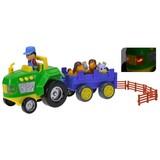 Traktor und Anhänger mit Sound - Multicolor, Kunststoff (33cm)