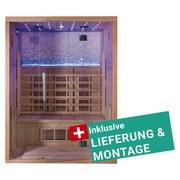 Infrarotkabine Malmö inkl. Lieferung & Montage - Naturfarben, MODERN, Holz (153/200/110cm)