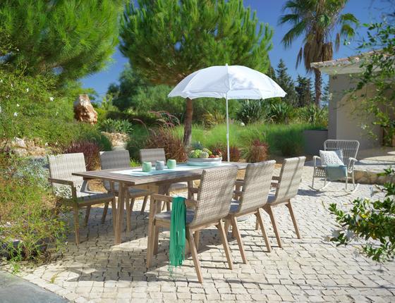 Zahradní Sada Columbia - bílá/barvy akácie, kov/dřevo - MÖMAX modern living
