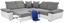 Wohnlandschaft in L-Form Logan 270x270 cm - Dunkelgrau/Silberfarben, MODERN, Holz/Textil (270/270cm) - Ombra