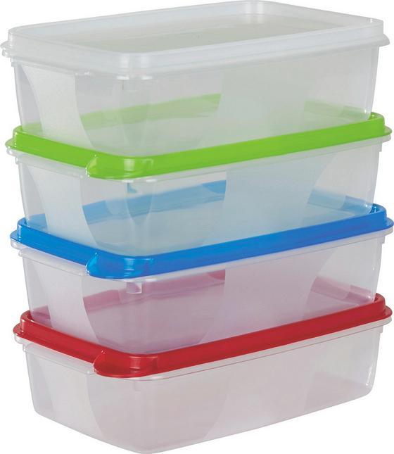 Frissentartó Dozob Color - natúr színek/piros, konvencionális, műanyag (10/5/15cm)