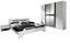 Schlafzimmer Ruby Alpinweiß - Dunkelgrau/Weiß, MODERN, Holzwerkstoff