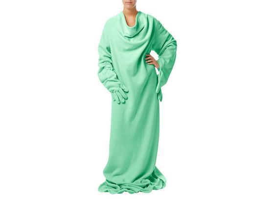 Ärmeldecke Doojo 150x200 cm - Mintgrün, MODERN, Textil (150/200cm)
