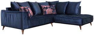 Sedací Souprava Belavio - tmavě modrá, Moderní, textilie (256/210cm)