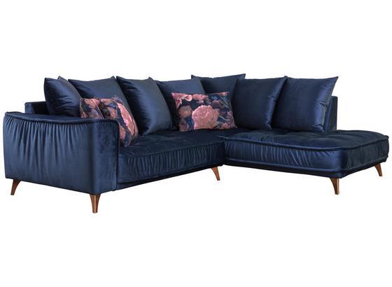 Wohnlandschaft In L-Form Belavio 256x210 cm - Dunkelblau/Kupferfarben, MODERN, Textil (256/210cm) - Luca Bessoni