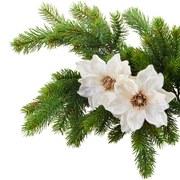 Dekoclip Magnolienblüte Berta Creme - Creme, Basics, Textil (16cm)