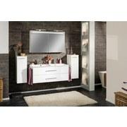 Spiegelschrank mit Türdämpfer + Led B.clever B: 120 cm, Weiß - Weiß, MODERN, Glas/Holzwerkstoff (120/71/16cm) - Fackelmann