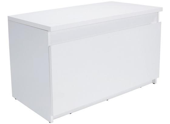 Šatní Lavice Trend - bílá, Moderní, kompozitní dřevo (90/49/38cm)