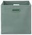 Skládací Krabice Elli -ext- -top- - jadeitově zelená, Moderní, karton/textilie (33/33/32cm) - Modern Living