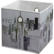 Faltbox Nyc - Multicolor, MODERN, Textil (32/32/32cm)