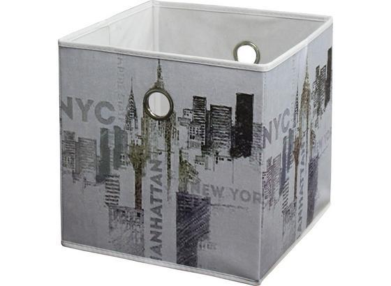Skladací Box Nyc - viacfarebné, Moderný, textil (32/32/32cm)