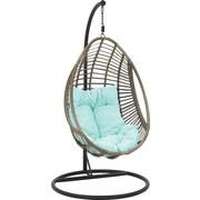 Závěsné Křeslo Norica - modrá/béžová, Moderní, kov/textil (103/195/103cm) - MÖMAX modern living