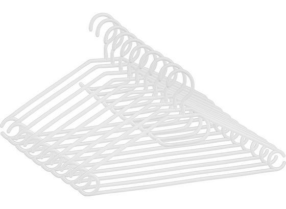 Sada Ramínek Na Šaty Cenový Trhák - bílá, umělá hmota (40,8/20,5cm) - Based