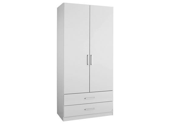 Drehtürenschrank Albero 91 cm Weiß online kaufen ➤ Möbelix