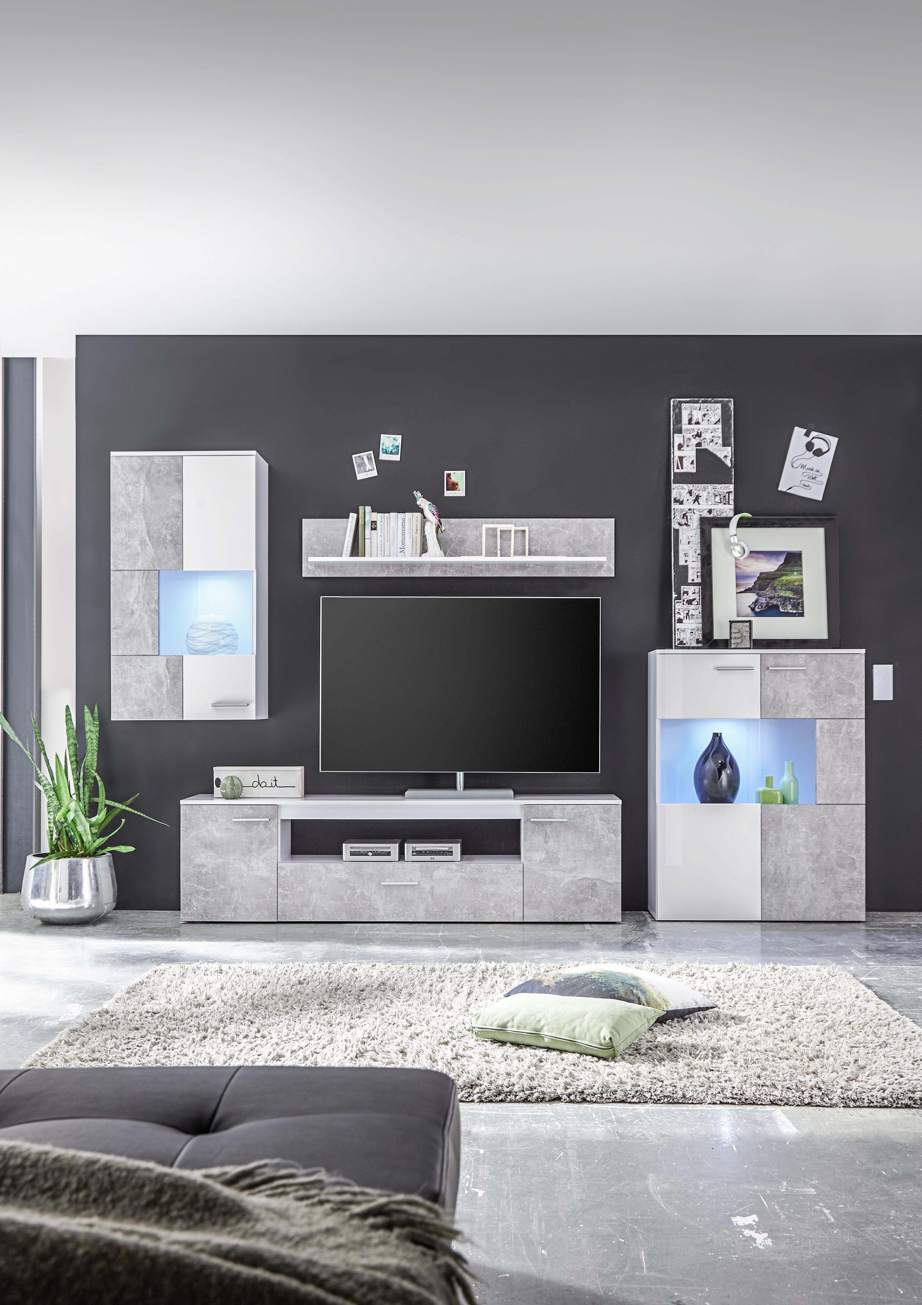 Fabelhaft Wohnzimmermöbel Weiß Holz Dekoration Von