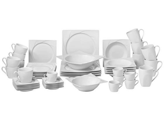 Servis Kombinovaný Celia - bílá, Moderní, keramika