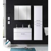 Spiegelschrank mit Led Splash B: 80cm - Weiß, Design, Glas/Holzwerkstoff (80/68/23cm)