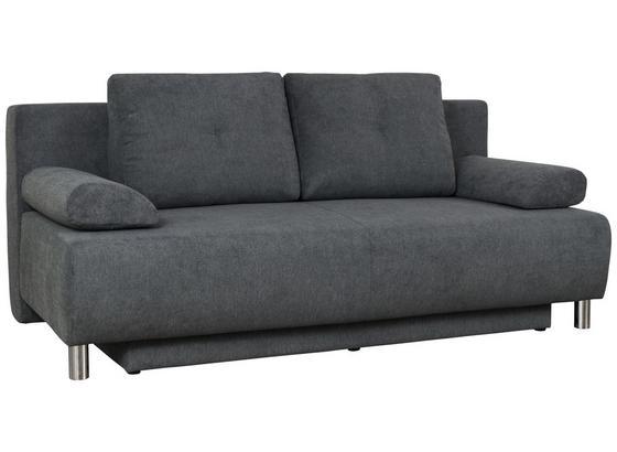Pohovka Boxspring Ines - antracitová, Moderný, drevo/textil (203/96/102cm) - Luca Bessoni