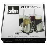 Gläserset 12-teilig - Silberfarben, MODERN, Glas (6,2/14,2cm) - Collini