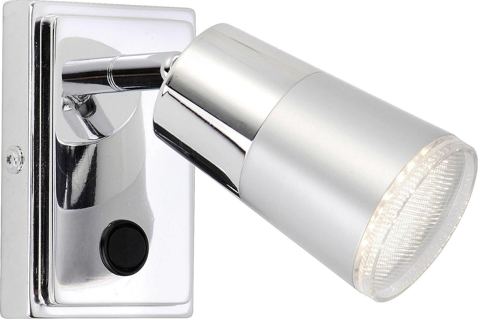 Spotlámpa Dalli - krómszínű/ezüst színű, konvencionális, műanyag/fém (16,3/14/19,4cm)