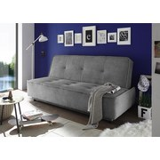 Schlafsofa Delia B: ca. 206 cm - Schwarz/Grau, MODERN, Holzwerkstoff/Textil (206/95/95cm) - Carryhome