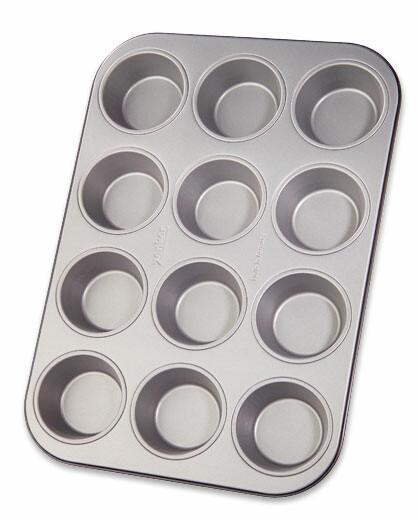 Muffin Sütőforma 3644 - ezüst színű, konvencionális, fém (25/38cm)