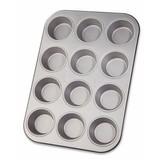 Muffinform für 12 Stück - Silberfarben, KONVENTIONELL, Metall (25/38cm) - Zenker