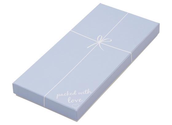 Dárkový Box Ella - bílá/světle modrá, Trend, karton/papír (23,6/11,1/2,5cm) - Mömax modern living