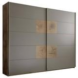 Schwebetürenschrank Capri B: 280 cm Eichedekor - Eichefarben/Grau, KONVENTIONELL, Holzwerkstoff (280/230/60cm) - Carryhome
