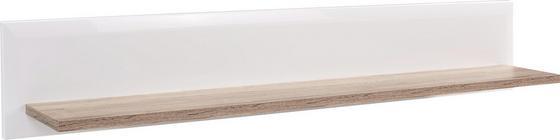 Falipolc Toronto - Tölgyfa/Fehér, modern, Faalapú anyag (165/25/21cm) - OMBRA