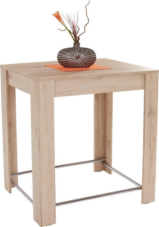 Esstisch Hans 100cm San Remo Hell Dekor - KONVENTIONELL, Holz/Holzwerkstoff (100/105/70cm)