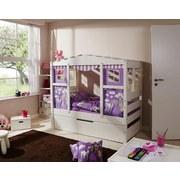 Spielbett Lio Mini 160x80 cm Weiß - Weiß/Naturfarben, MODERN, Holz/Kunststoff (80/160cm) - Livetastic