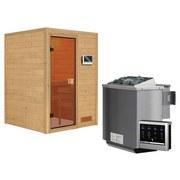 Bio-Sauna Lyon mit externe Steuerung - Naturfarben, MODERN, Holz (146/198/146cm) - Karibu