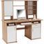 Íróasztal Thema 2 - Sonoma tölgy/Fehér, modern, Faalapú anyag/Műanyag (160/153,4/60cm)