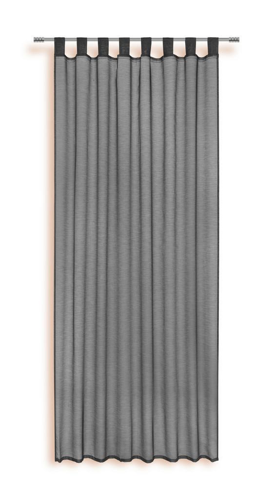 Kombivorhang Lydia - Schwarz, KONVENTIONELL, Textil (140/255cm) - Ombra