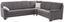 Sedací Souprava Ruby - světle šedá, Konvenční, kov/dřevo (303/245cm)