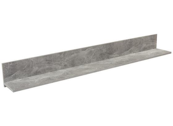 Nástenná Polica Malta - sivá, Moderný, kompozitné drevo (180/18/20cm)